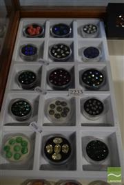 Sale 8530 - Lot 2233 - 15 Containers of Cut Gems