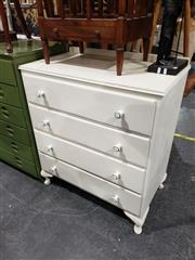 Sale 8988 - Lot 1039 - White Painted Chest of Four Drawers (H:95 W:80 D:45)