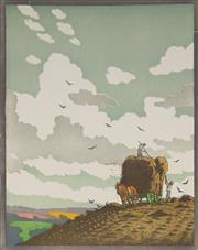 Sale 9078A - Lot 5061 - John Hall Thorpe (1874-1947) - Haymakers 33.5 x 26.5 cm