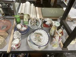 Sale 9101 - Lot 2349 - Collection of ceramics inc cabinet plates, and figures