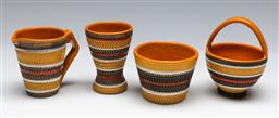 Sale 9148 - Lot 26 - Small collection of Italian ceramics inc egg holder (H:8cm) and creamer (H:7.5cm) - chip to spout