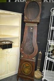 Sale 8050B - Lot 36 - 19th century French painted comptoise clock, with signed brass and enamel dial