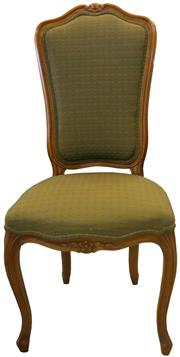 Sale 8258A - Lot 45 - Set of ten high back Louis XV style dining chairs, French upholstery in good condition, circa 1920, RRP $4500 set