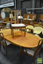 Sale 8338 - Lot 1083 - Nathan Teak Dining Table and Six Chairs