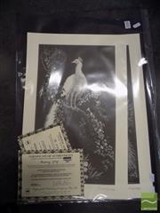 Sale 8407T - Lot 2080 - Quantity of (10) Lionel Lindsay facsimile etchings, Morning Glory (5) & The White Peacock (5) (each with certificate)