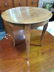 Sale 8559 - Lot 1021 - Small French Cherrywood Occasional Table, with circular top & cabriole legs