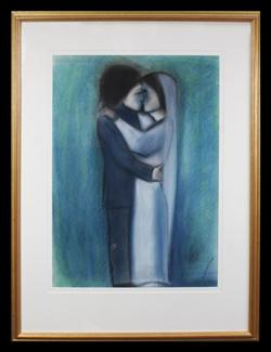 Sale 7923 - Lot 538 - Robert Dickerson - Bride and Groom 74 x 56 cm