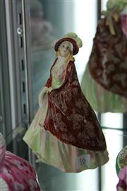 Sale 8032 - Lot 16 - Royal Doulton Figurine  Paisley Shawl HN 1392 First Ed. Cracked