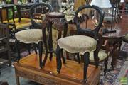 Sale 8323 - Lot 1024 - Pair of Balloon Back Chairs