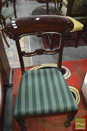 Sale 8326 - Lot 1728 - Victorian Carved Back Chair, Retro Chair and Upholstered Bedroom Chair