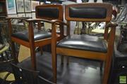 Sale 8326 - Lot 1289 - Pair Of Teak Paddle Armchairs