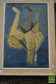 Sale 8528 - Lot 1014 - Nino Marino (1929 - ) Untitled, 1958, lithograph, 60 x 40cm (frame size: 72 x 52cm), unsigned