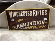 Sale 8854 - Lot 1077 - Cast Iron Reproduction Winchester Sign
