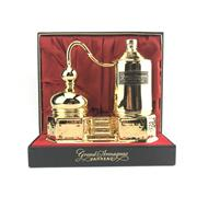 Sale 8875W - Lot 28 - 1x Janneau Armagnac - in Limoges Porcelain gilt still-form decanter in box