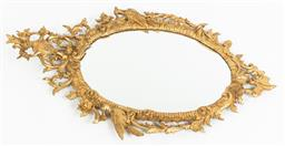 Sale 9099 - Lot 160 - An Italian giltwood wall mirror in the Chippendale manner, 121cm x 72cm