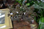 Sale 8014 - Lot 39 - Pair of Victorian Brass and Iron Fire Dogs with St George Motif