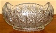 Sale 8080A - Lot 33 - A Large Crystal bowl of oval form. Length 34cm