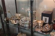 Sale 8189 - Lot 177 - Georg Jensen Plated Wares with Other Silver Plate incl. Trays
