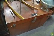 Sale 8338 - Lot 1650 - Large Metal Lift Top Trunk