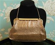 Sale 8448A - Lot 43 - Lovely vintage Glomesh clutch purse in highly sought after gold mesh Condition: excellent, lovely soft flowing mesh & lining is li...