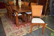 Sale 8550 - Lot 1287 - Farmhouse Dining Table with Eight Chairs