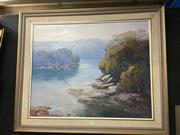 Sale 8690 - Lot 2038 - Robert Colligan - Willoughby Bay, oil on board, 78.5 x 93.5cm (frame size), signed lower right
