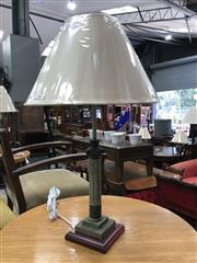 Sale 8839 - Lot 1294 - Pair of Thin Grecian Column Form Table Lamps (3862)