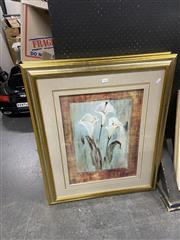 Sale 8927 - Lot 2092 - Pair of Decorative Prints of Arum Lillies