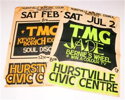 Sale 9110 - Lot 372 - Ted Mulry Gang Vintage Gig Posters (2) (Some wear)