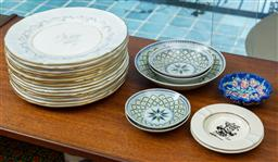 Sale 9164H - Lot 77 - A shelf lot of ceramics including mostly dishes