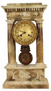 Sale 7988 - Lot 79 - French Marble Portico Clock