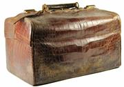 Sale 8057 - Lot 36 - Finnigan Maker Manchester Crocodile Skin Gentlemans Travel Case