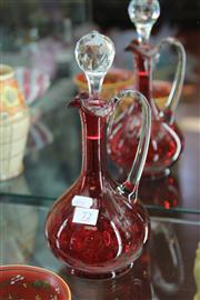 Sale 8195 - Lot 72 - Ruby Glass Decanter