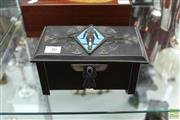 Sale 8226 - Lot 36 - Art Deco Copper and Enamel Egyptian Coffer