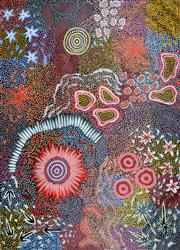 Sale 8339A - Lot 551 - Michelle Possum Nungurrayi (1967 - ) - Grandmothers Country 98 x 73cm