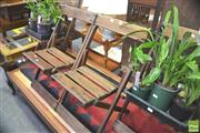 Sale 8338 - Lot 1453 - Set of 4 Timber Folding Chairs