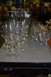 Sale 8563T - Lot 2553 - Large Collection of Shot and Wine Glasses