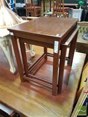 Sale 8554 - Lot 1038 - Nest of two timber tables
