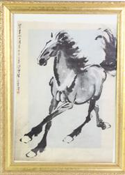 Sale 8913C - Lot 20 - A Framed Chinese Artwork Featuring Horse (55cm x 73cm)
