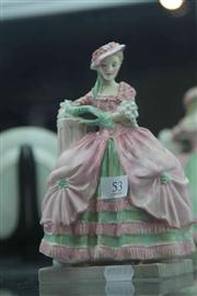 Sale 8032 - Lot 53 - Royal Doulton Figurine Kate Hardcastle HN 1718, First Ed, Restored