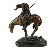 Sale 8040 - Lot 22 - Bronze End of the Trail Figure Group