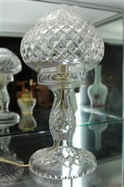 Sale 8296 - Lot 52 - Crystal Parlour Lamp