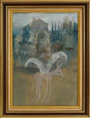 Sale 8530A - Lot 94 - Greg Hyde (1950 - ) - Donkey With the Worries of the World on his Shoulders, 1977 49 x 34cm