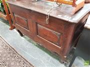 Sale 8424 - Lot 1099 - 18th/ 19th Century French Oak Coffer, with hinged lid, carved panels & shaped apron on cabriole legs