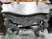 Sale 8740 - Lot 1652 - Carved Timber Console Table