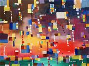 Sale 8903 - Lot 2095 - Greg Lipman (1938 - ) - City Cloudburst 92 x 122 cm