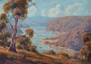 Sale 8881A - Lot 5080 - R Parsons (1918 - 2011) - Middle Harbour from Seaforth Crescent 42 x 60 cm