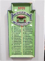 Sale 8904 - Lot 1050 - AOOFB Pioneers Sign