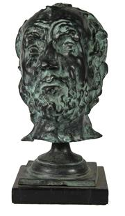 Sale 8040 - Lot 26 - Bronze Patinated Bust of Bearded Man