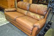 Sale 8093 - Lot 1031 - Moran Leather Lounge Setting inc 2 Seater & Armchair